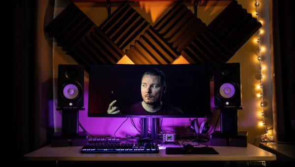 Editing Desk Tour & Monitor Review (BenQ Sw271 & Viewsonic VP3481)