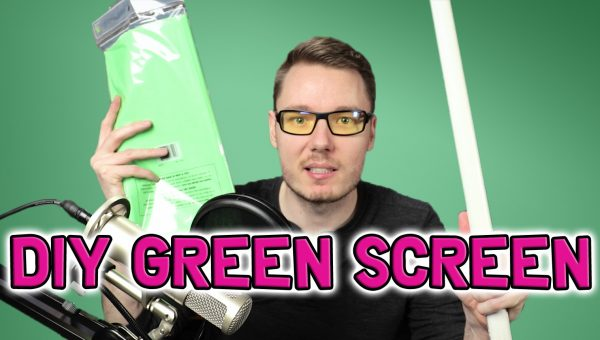 DIY Green Screen YouTube Gerald Undone Tablecloth PVC Pipe