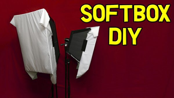 Softbox DIY with Continuous Light for Video (2017 Instructions) - Large Diffused Foam Board